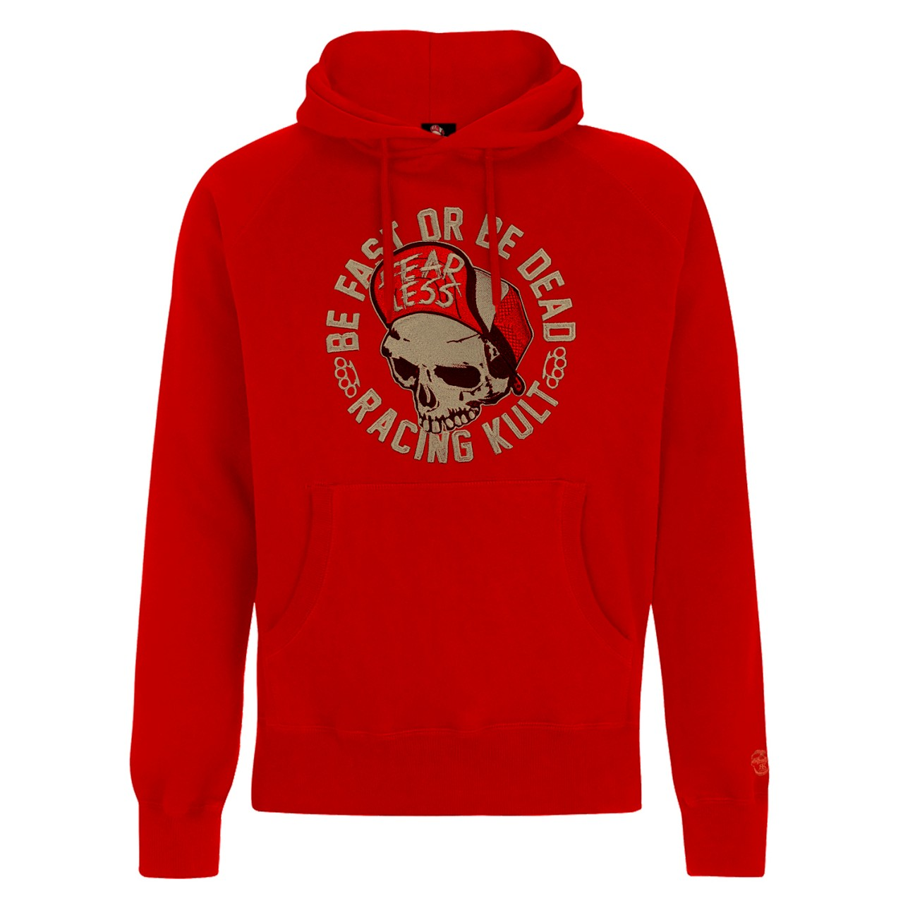 Racing Kult Premium Hoodie Be Fast Or Be Dead mit Stick