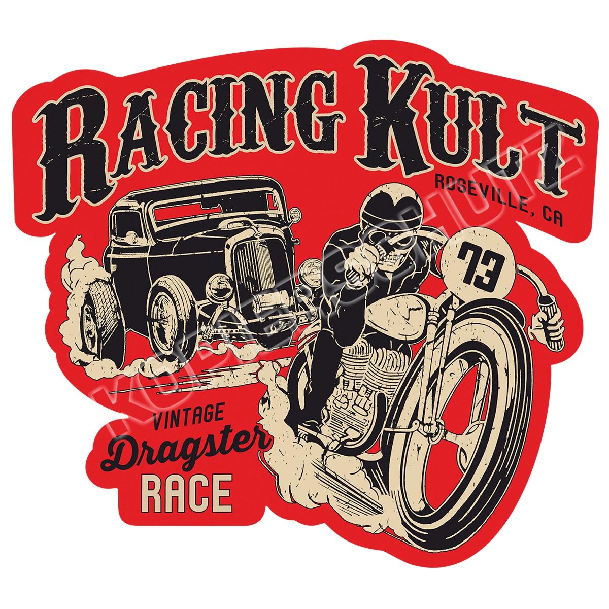 Racing Kult Aufkleber Dragster Race Sticker in verschiedenen Größen