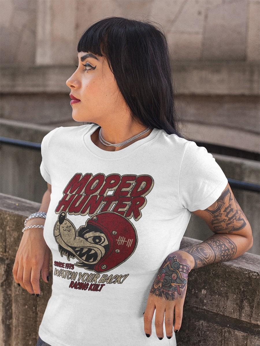 Racing Kult Frauen T-Shirt Moped Hunter