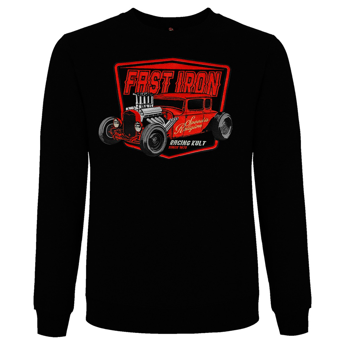 Racing Kult Sweatshirt Fast Iron mit Stick
