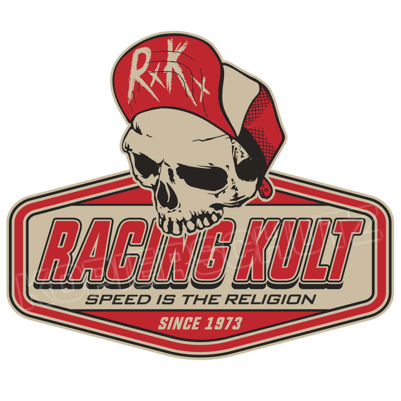 Racing Kult Aufkleber Sticker RK Logo Speed is the Religion in verschiedenen Größen