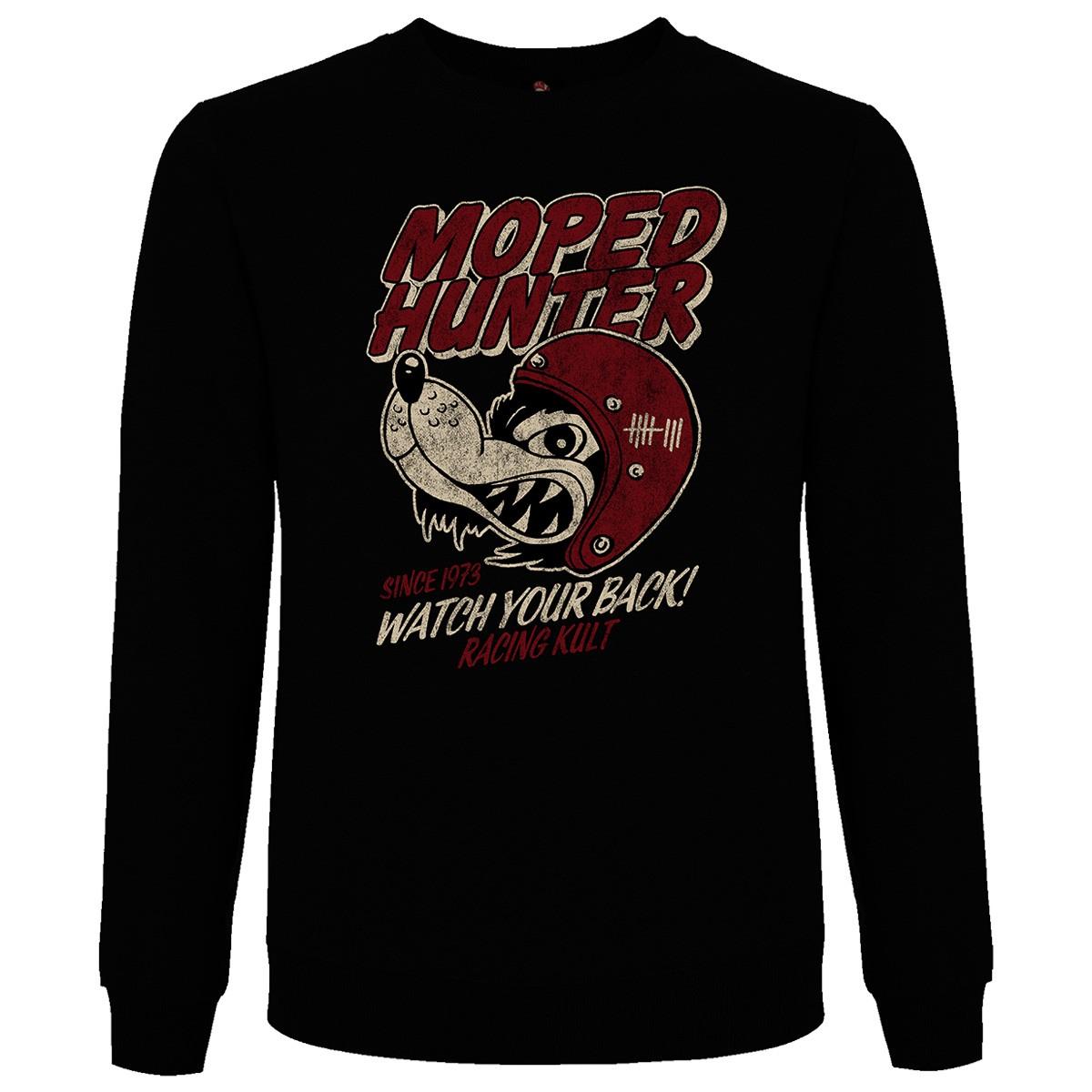 Racing Kult Sweatshirt Moped Hunter Frontprint