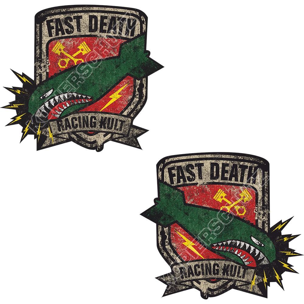 Racing Kult Aufkleber Sticker Fast Death Set in verschiedenen Größen