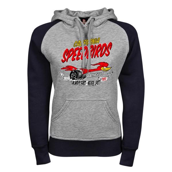 Racing Kult Hoddie California Speebirds Navy/Grau Meliert