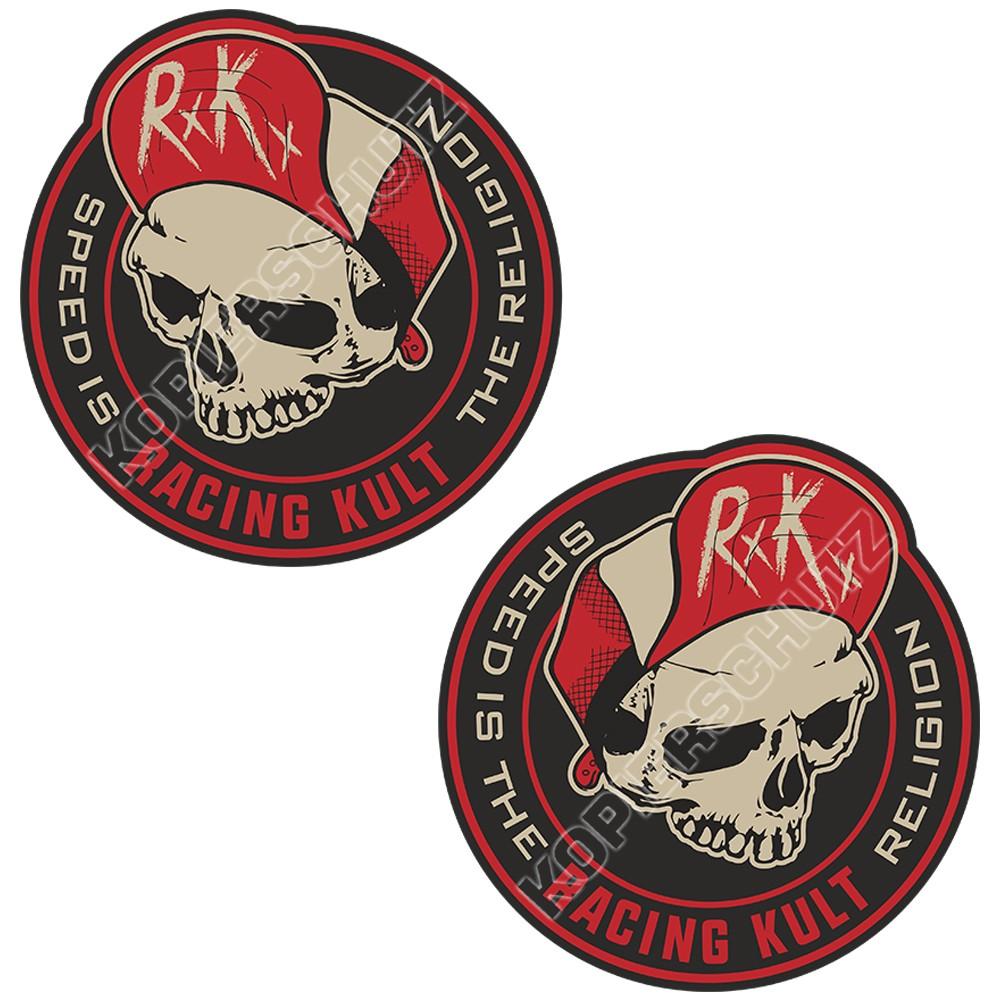 Racing Kult Aufkleber Sticker RK Speed is the Religion Set Schwarz/Beige in verschiedenen Größen