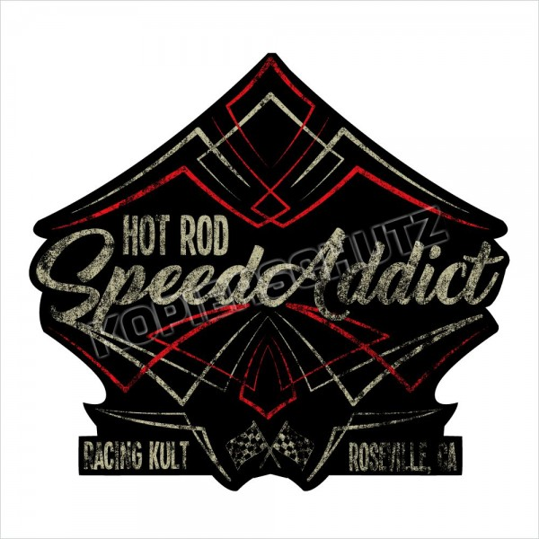 Racing Kult Aufkleber Sticker Hot Rod Speed Addict Oldschool