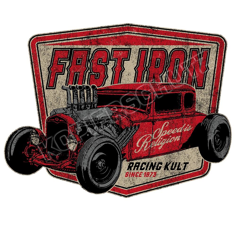 Racing Kult Aufkleber Fast Iron in verschiedenen Größen