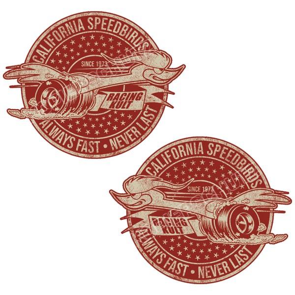 Racing Kult Aufkleber California Speedbirds Always Fast - Never Last Set in verschiedenen Größen