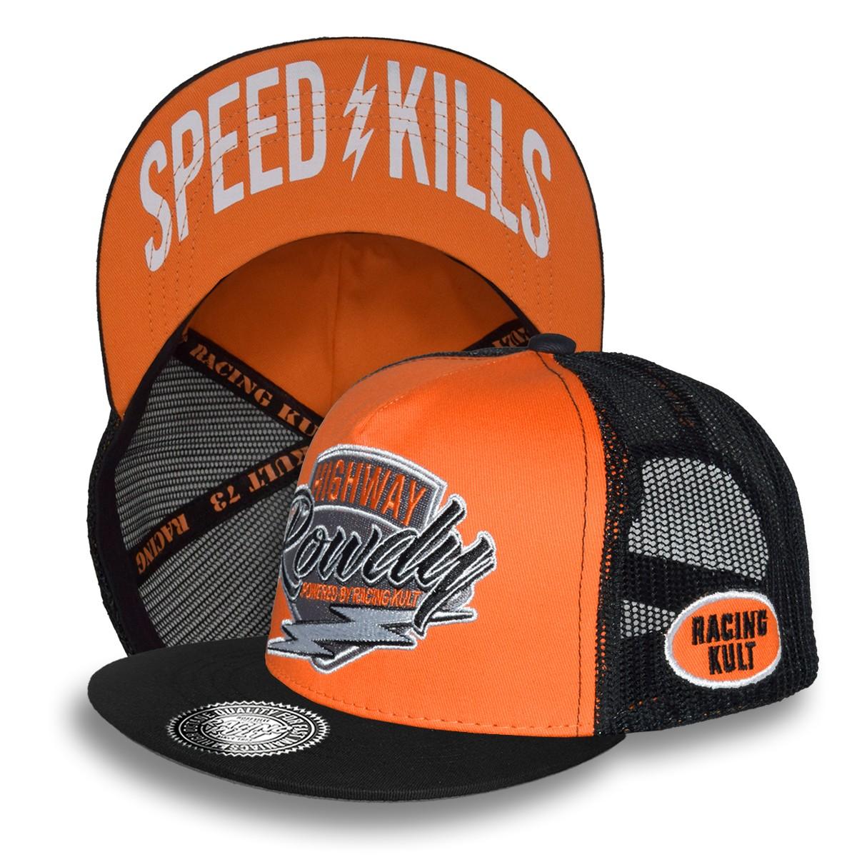 Racing Kult Highway Rowdy Snapback Cap mit Stick Unisex