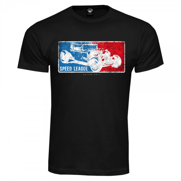Racing Kult T-Shirt Speed League Schwarz