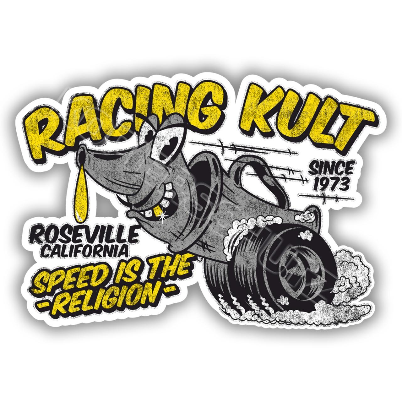 Racing Kult Aufkleber Sticker Weiß in verschiedenen Größen