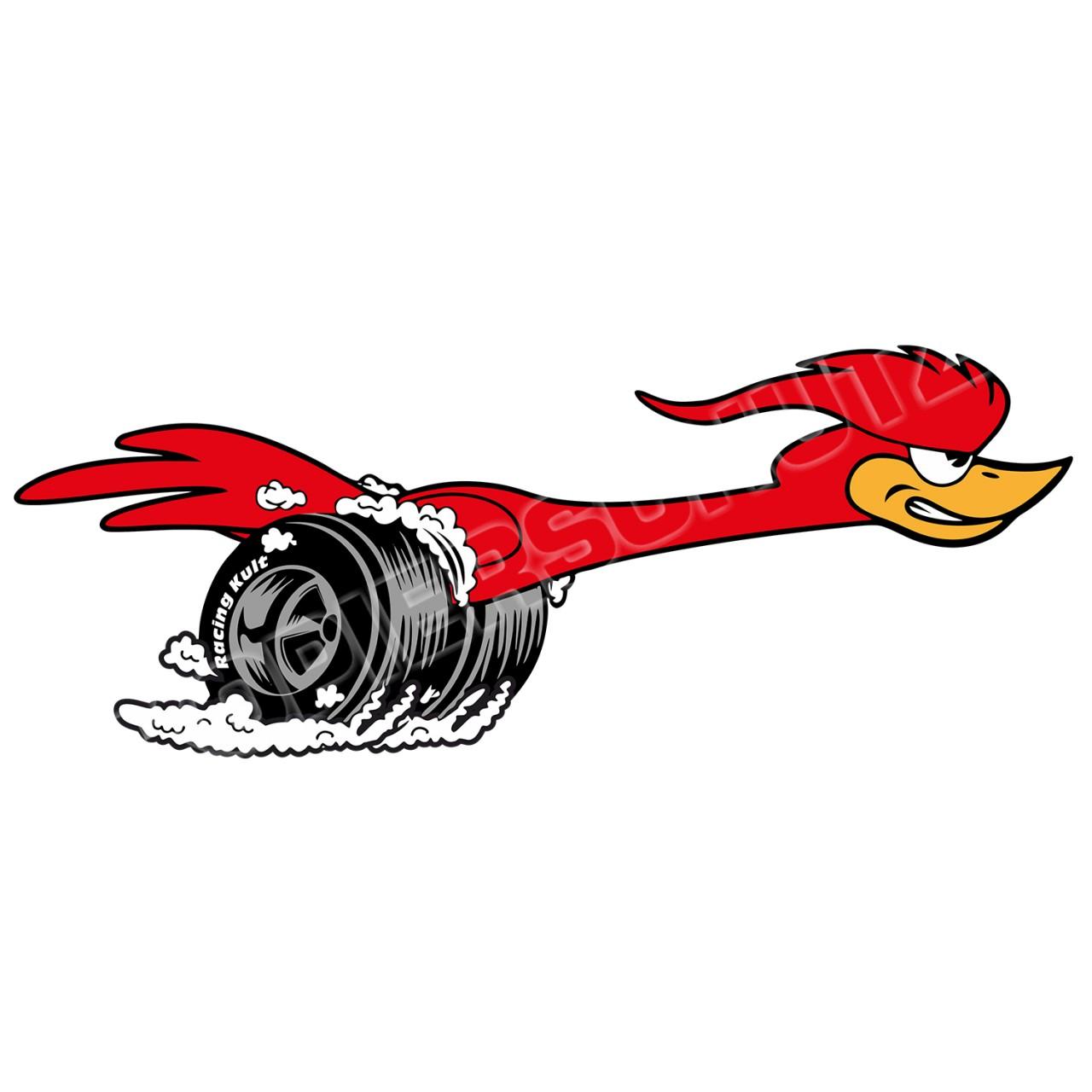Racing Kult Aufkleber Speedbird Sticker in verschiedenen Größen
