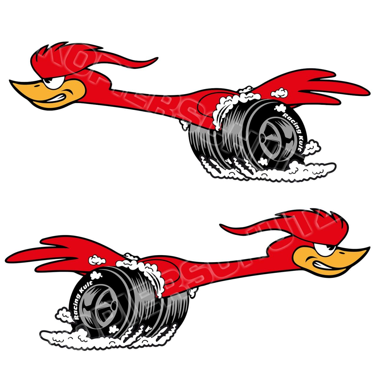 Racing Kult Aufkleber Speedbird Sticker Set in verschiedenen Größen