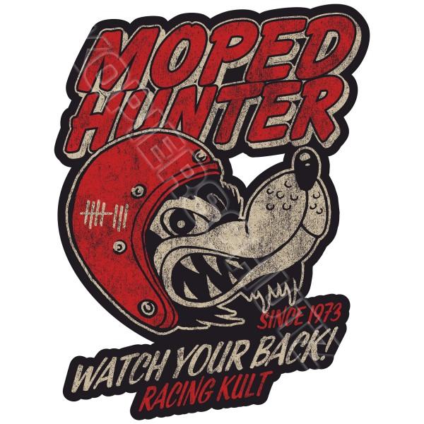Racing Kult Aufkleber Moped Hunter in verschiedenen Größen