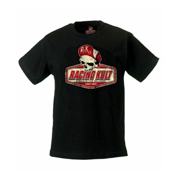 Racing Kult KInder T-Shirt Logo SITR Schwarz