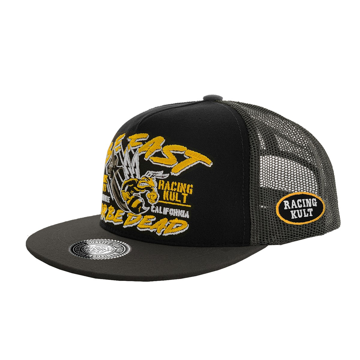 Racing Kult Be Fast or Be Dead Snapback Cap mit Stick Unisex