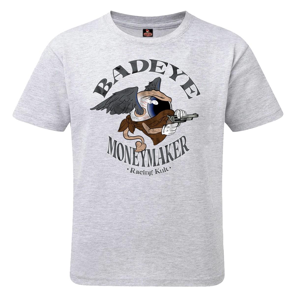Racing Kult Unisex Kinder T-Shirt Moneymaker Grau Meliert