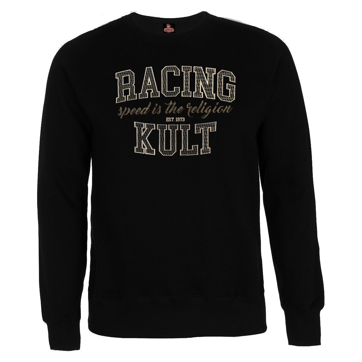 Racing Kult Sweatshirt Speed is the Religion mit Stick
