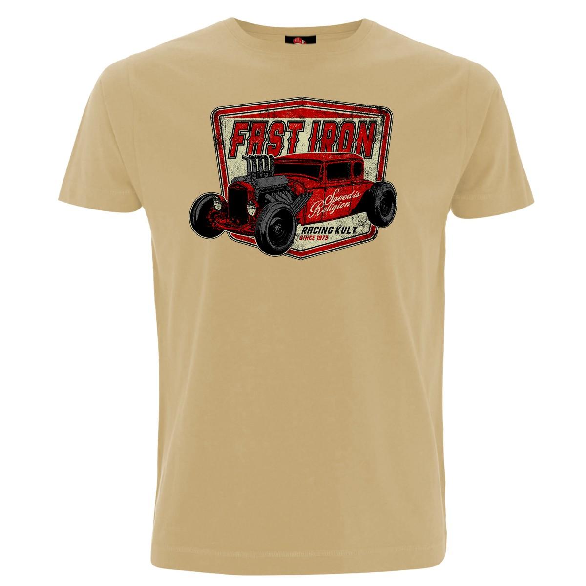 Racing Kult T-Shirt Fast Iron Weiß Frontprint