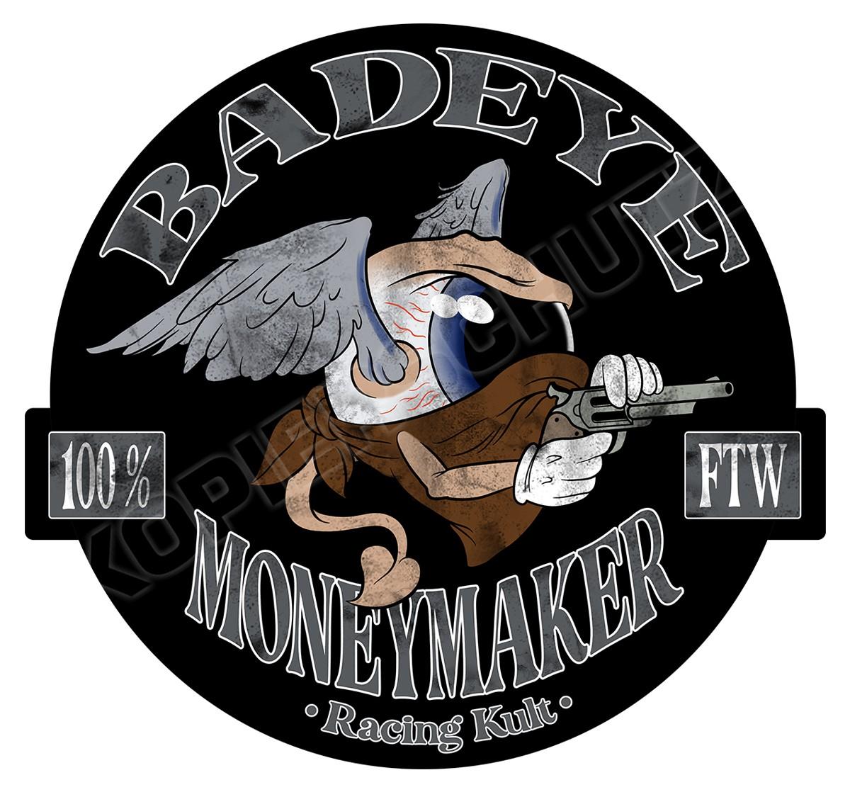Racing Kult Aufkleber Badeye Moneymaker Schwarz in verschiedenen Größen