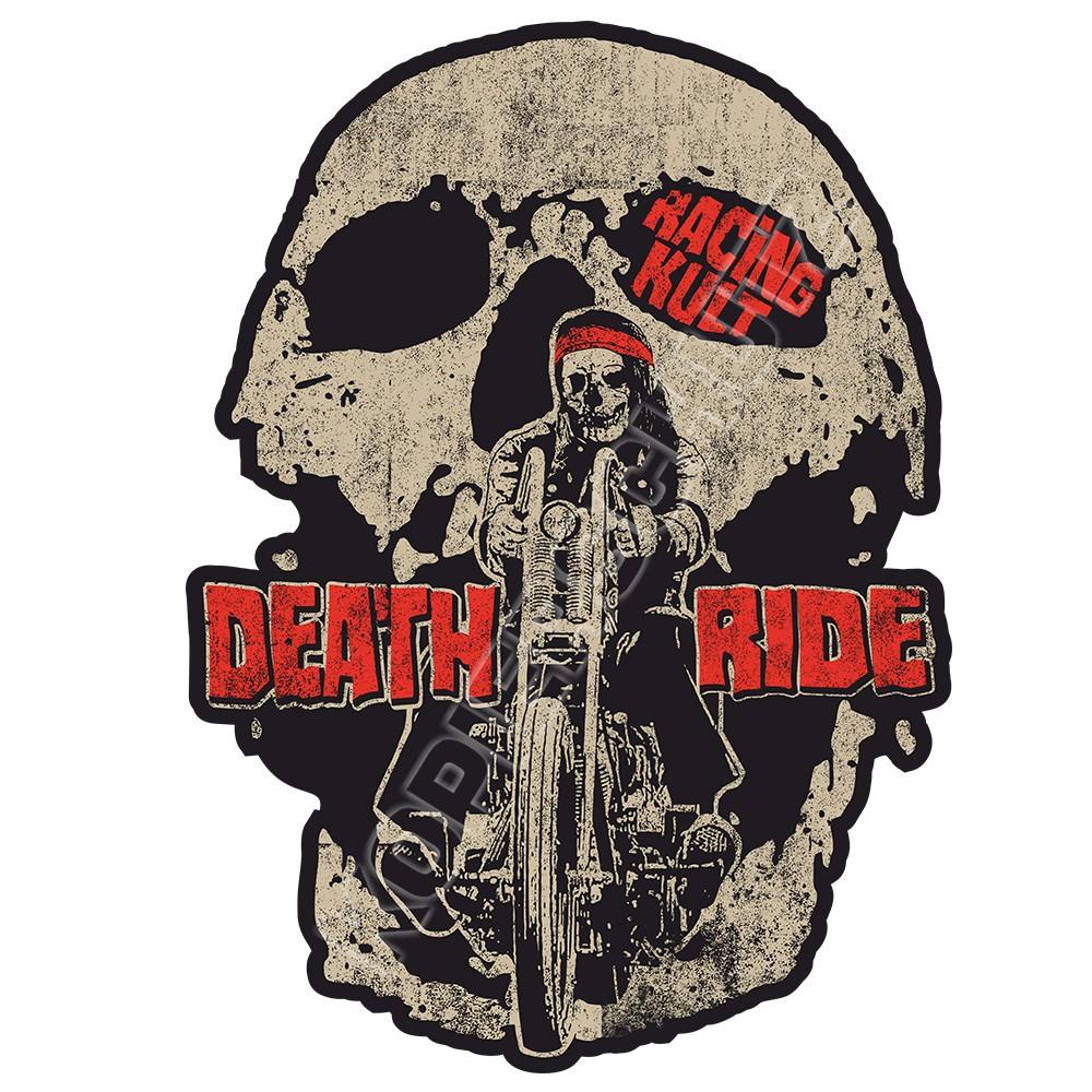 Racing Kult Aufkleber Death Ride in verschiedenen Größen