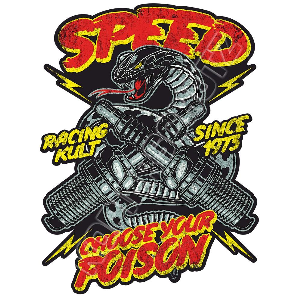 Racing Kult Aufkleber Speed Choose Your Poison verschiedenen Größen