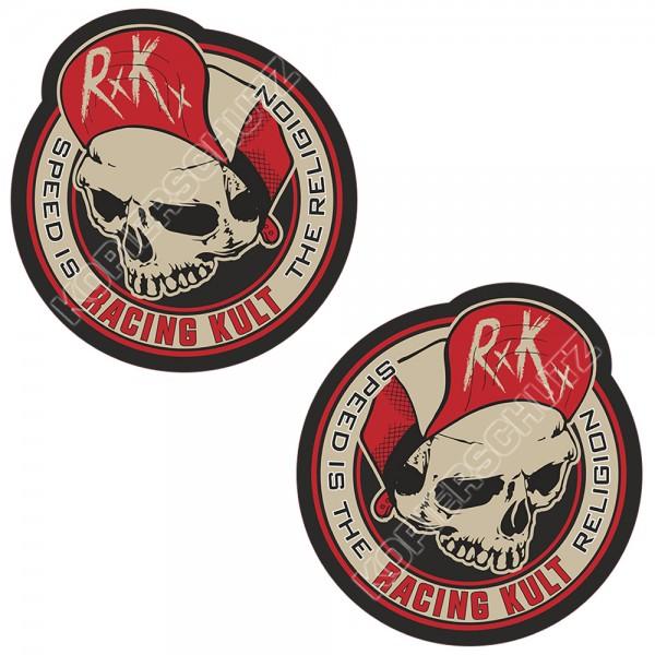 Racing Kult Aufkleber Sticker RK Speed is the Religion Set Beige/Schwarz in verschiedenen Größen
