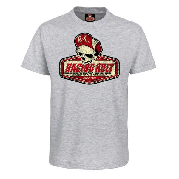 Racing Kult Kinder T-Shirt Logo SITR Grau Meliert