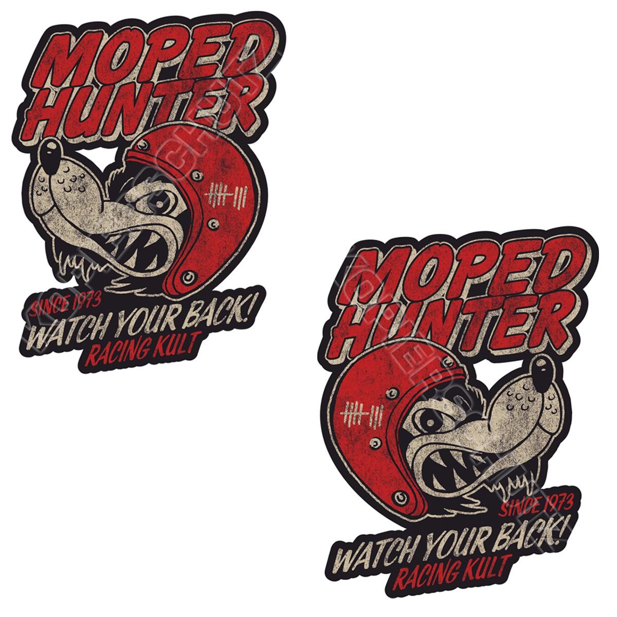 Racing Kult Aufkleber Sticker Moped Hunter Set in verschiedenen Größen