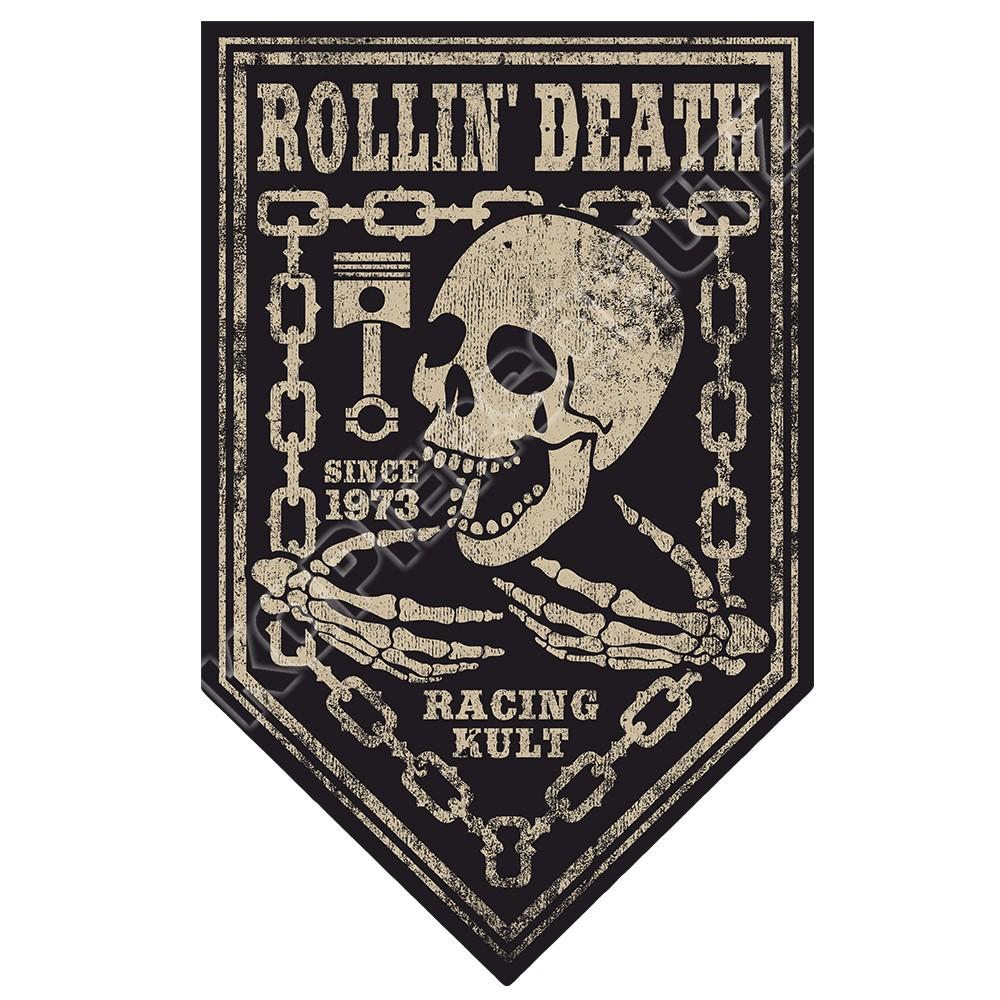 Racing Kult Aufkleber Rolling Death in verschiedenen Größen