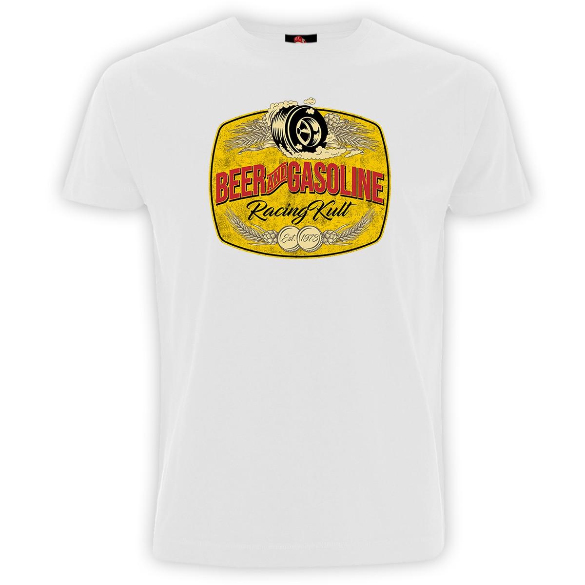 Racing Kult T-Shirt Beer and Gasoline Frontprint