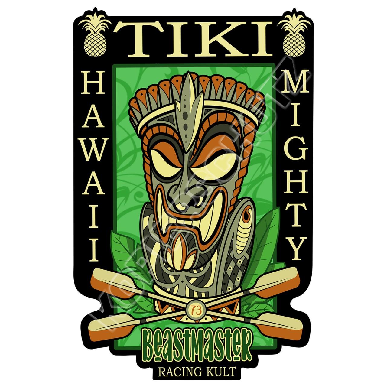 Racing Kult Aufkleber Tiki Beastmaster in verschiedenen Größen