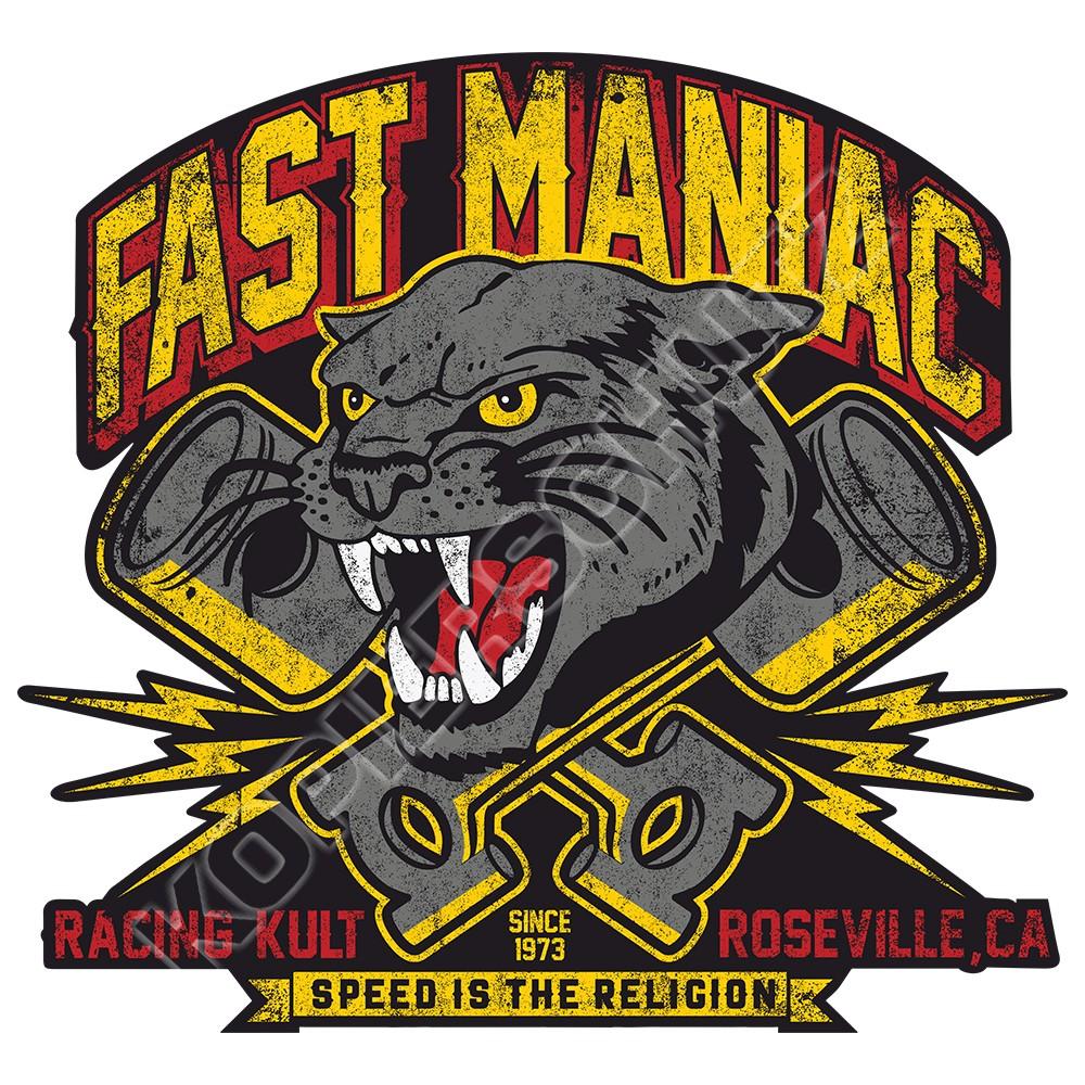 Racing Kult Aufkleber Fast Maniac in verschiedenen Größen