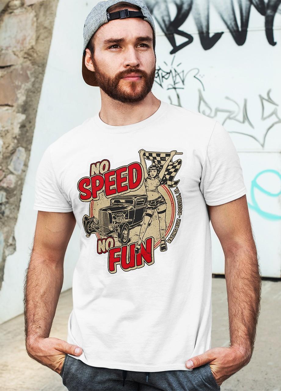 Racing Kult T-Shirt No Speed No Fun Frontprint
