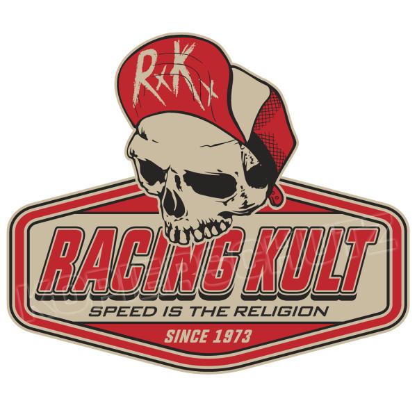 Racing Kult Aufkleber Sticker RK Logo Speed is the Religion-Copy