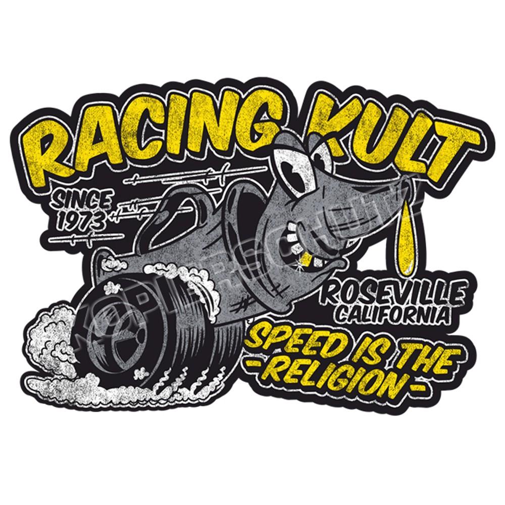 Racing Kult Aufkleber Sticker Schwarz in verschiedenen Größen