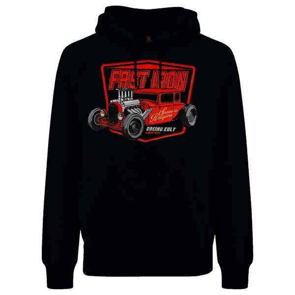 Racing Kult Premium Hoodie Fast Iron mit Stick