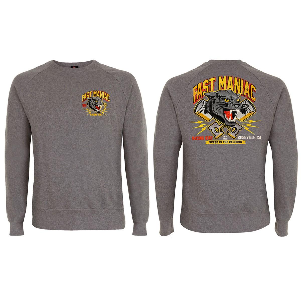 Racing Kult Sweatshirt Fast Maniac mit Stick