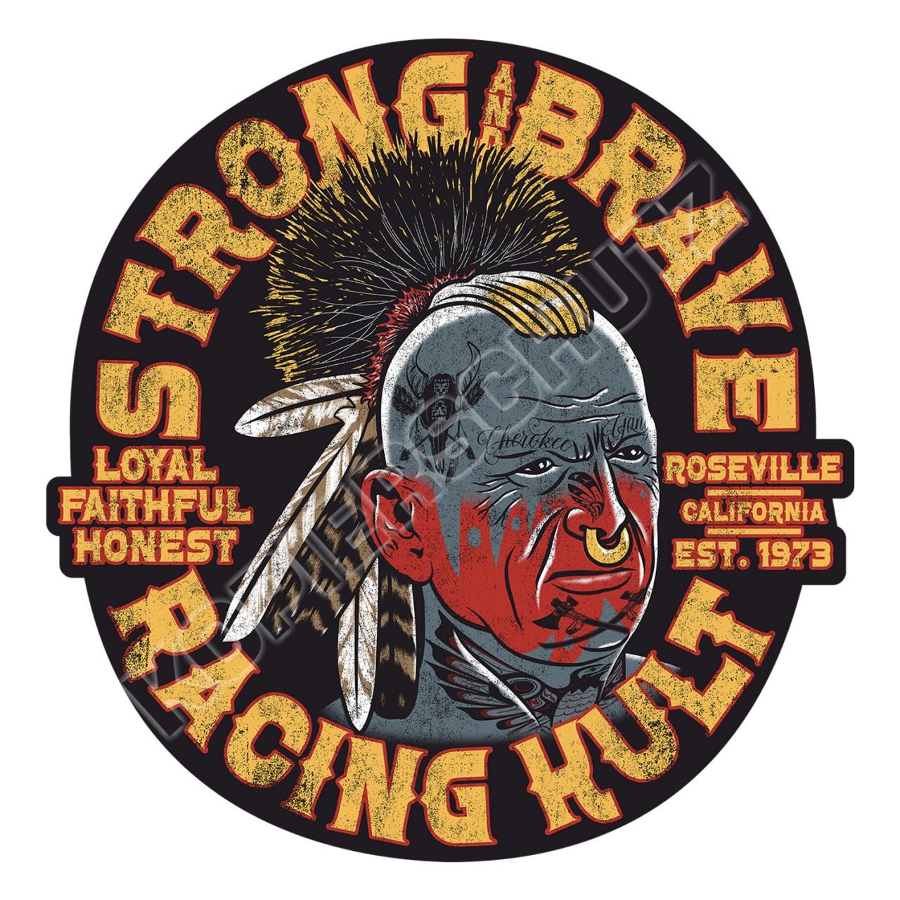 Racing Kult Aufkleber Cherokee Schwarz in verschiedenen Größen