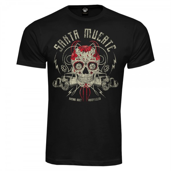 Racing Kult T-Shirt Santa Muerte Schwarz