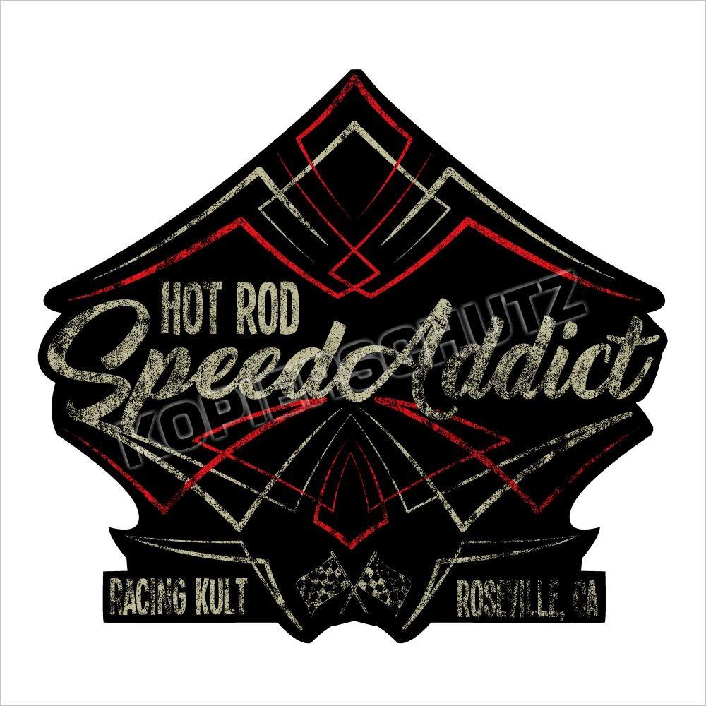 Racing Kult Aufkleber Sticker Hot Rod Speed Addict Oldschool in verschiedenen Größen