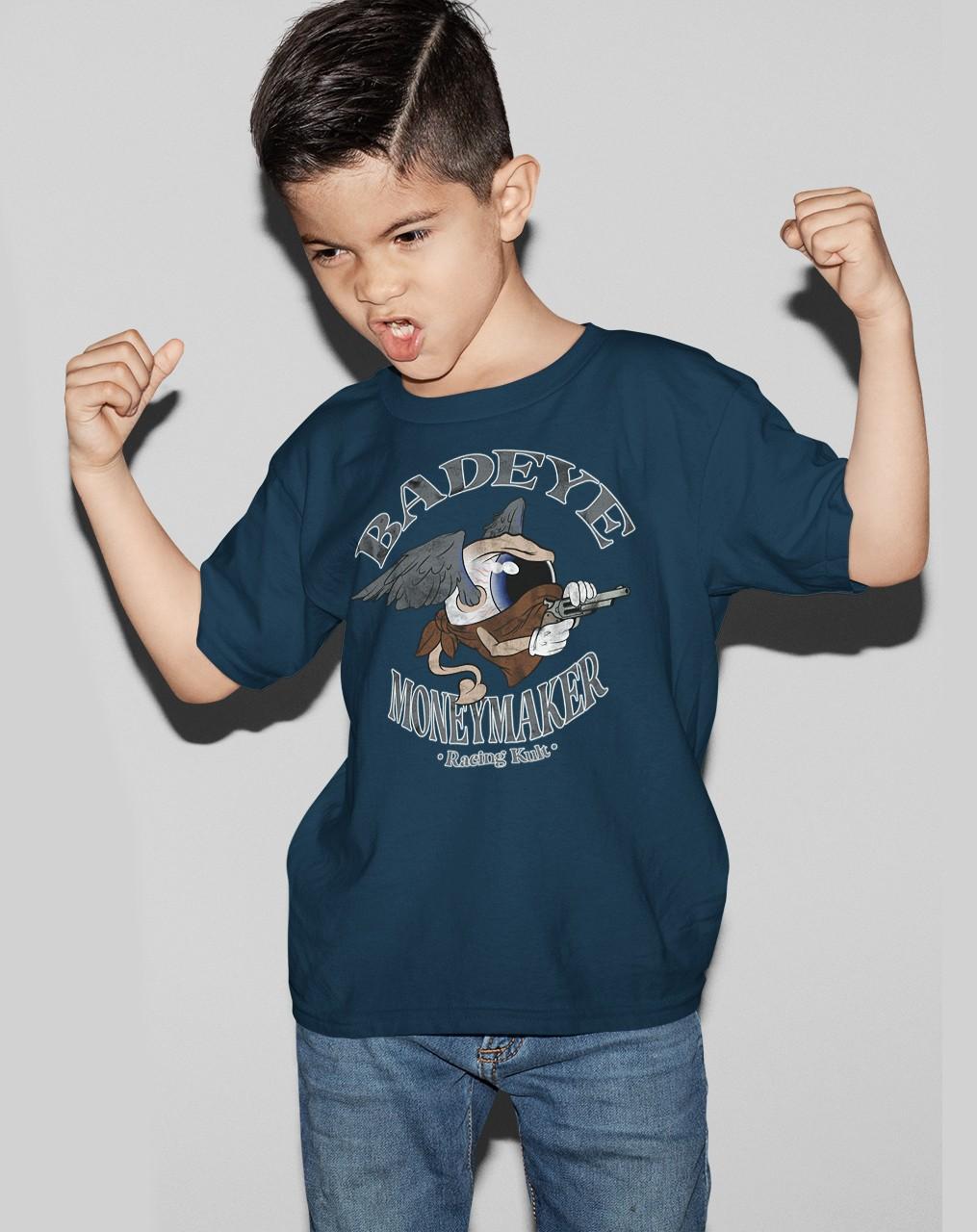 Racing Kult Unisex Kinder T-Shirt Moneymaker Navy