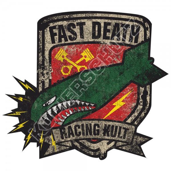 Racing Kult Aufkleber Sticker Fast Death Kolben Bomber in verschiedenen Größen