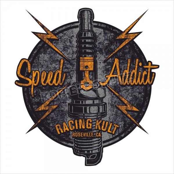 Racing Kult Aufkleber Sticker Speed Addict Oldschool Vintage