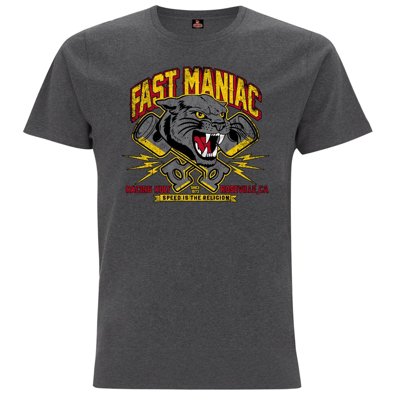 Racing Kult T-Shirt Fast Maniac Frontprint