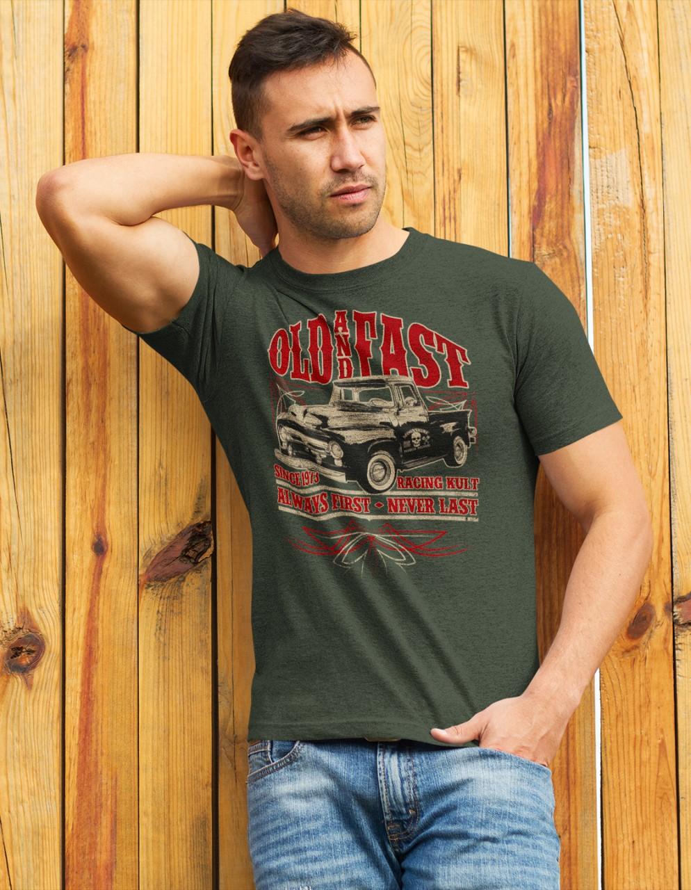 Racing Kult T-Shirt Old and Fast Frontprint
