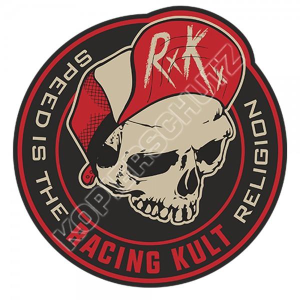 Racing Kult Aufkleber Sticker RK Speed is the Religion Schwarz/Beige in verschiedenen Größen