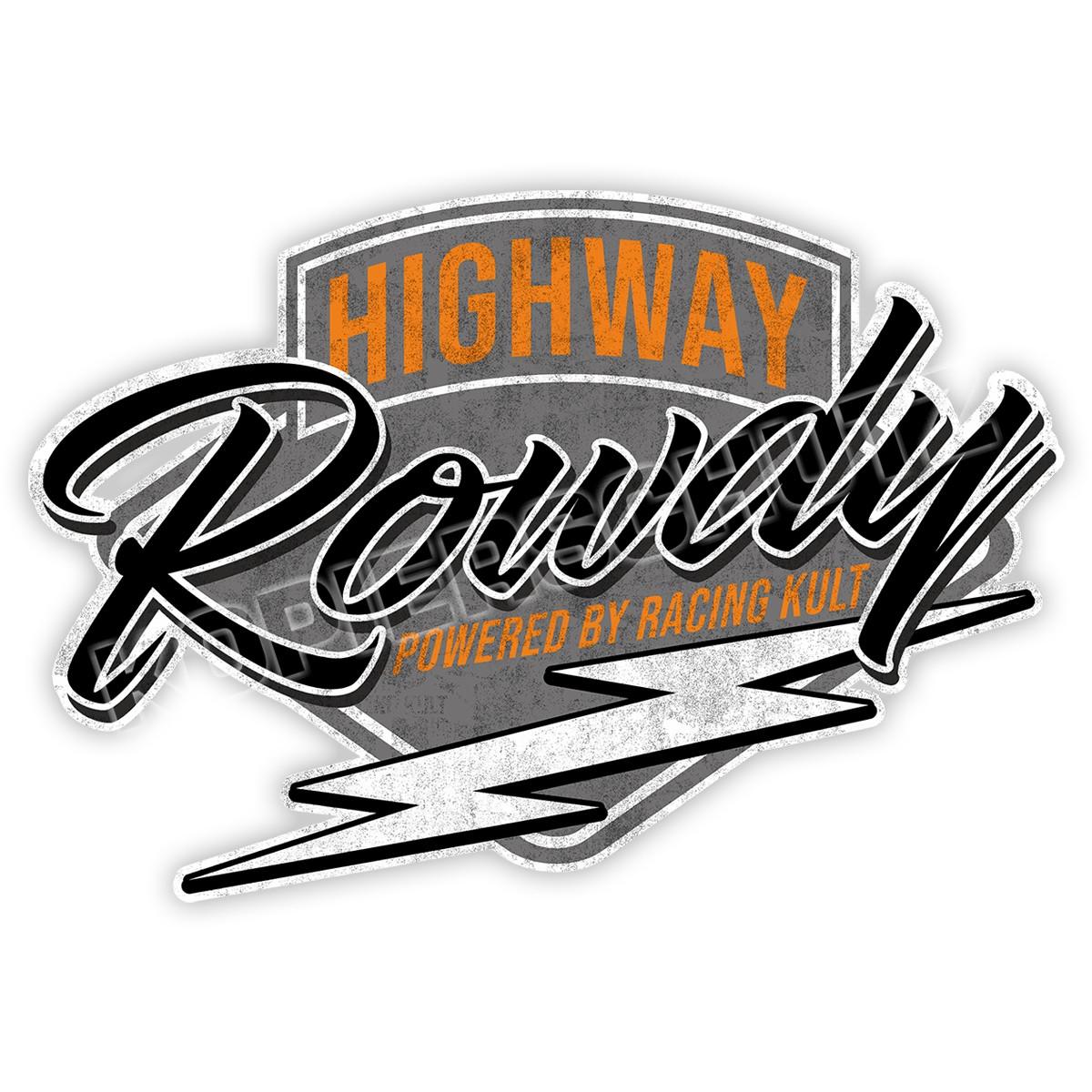 Racing Kult Highway Rowdy Sticker Aufkleber