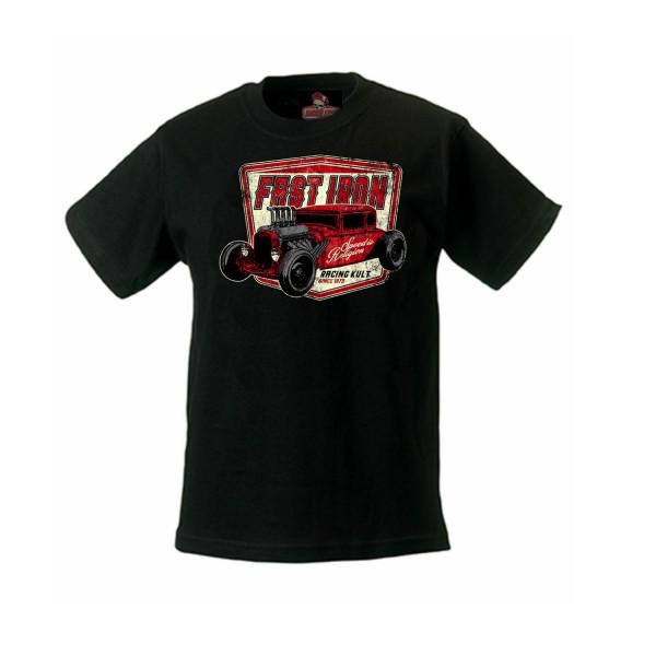 Racing Kult KInder T-Shirt Fast Iron Schwarz
